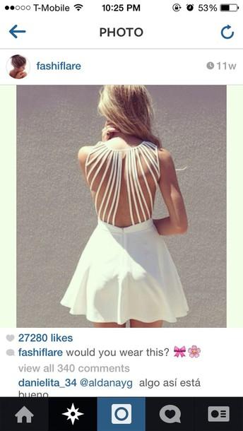 dress white dress flowy dress strappy strapback