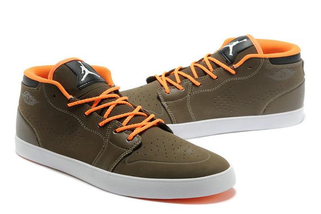 Mens Jordan AJ V.1 Chukka Olive - Orange Nike Casual Shoes