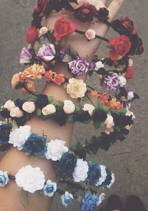 Сделать ободок с цветами