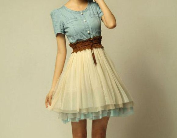 beige skirt dress denin top dress blue dress
