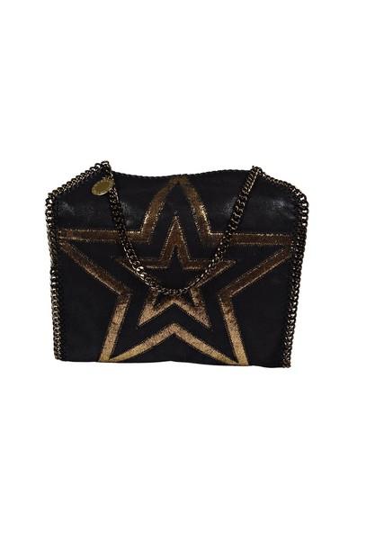Stella McCartney bag tote bag gold black