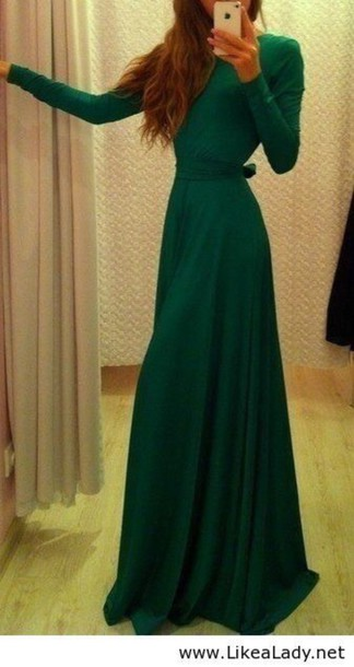 dress green dress winter formal dresses fall dress