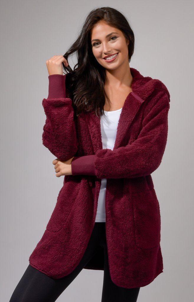 Cozy Sherpa Cardigan with Hood