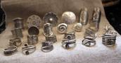 jewels,sterling silver rings,nepal,handmade