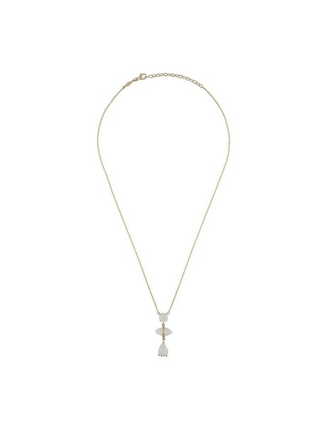 Jacquie Aiche women moon necklace gold grey metallic jewels