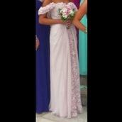 dress,light pink,prom,prom dress,long prom dress,maxi dress,off the shoulder dress