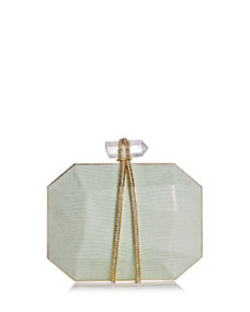 Marchesa Iris Lizard Box Clutch Bag