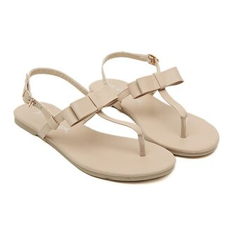 shoes bow sandals nude sandals summer sandals sandals