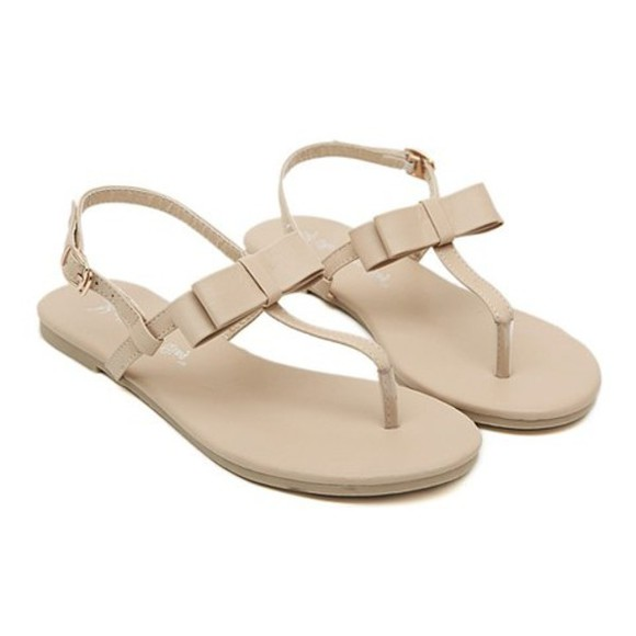 shoes nude sandals sandals bow sandals summer sandals