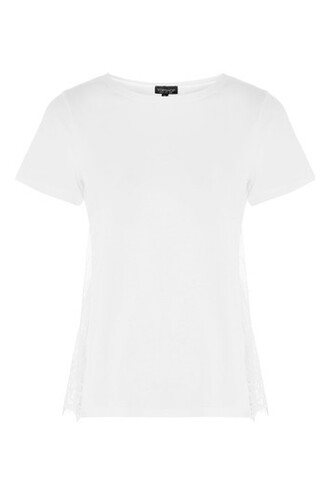 t-shirt shirt lace white white lace top