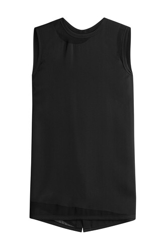 top sleeveless silk black