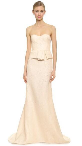 gown strapless blush dress