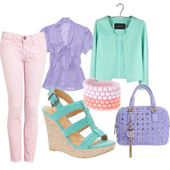 jeans leopard print pink