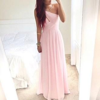 dress pastel prom pretty pink dress long prom dress
