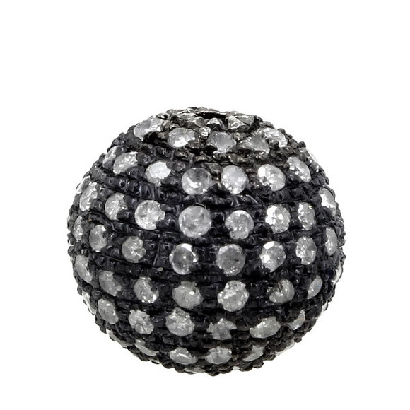 jewels diamonds sterling silver pave diamond jewelry findings pave balls beads pave ball pave diamond ball silver ball silver beads silver ball findings findings for jewelry making