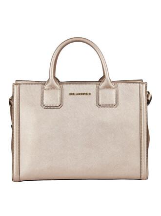 metallic rose pink bag