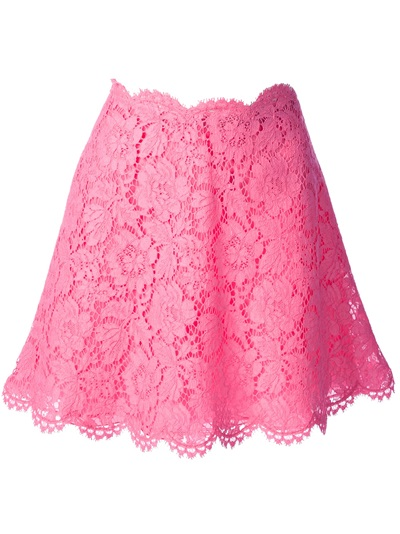 Valentino Floral Lace Skirt - Luisa World - Farfetch.com