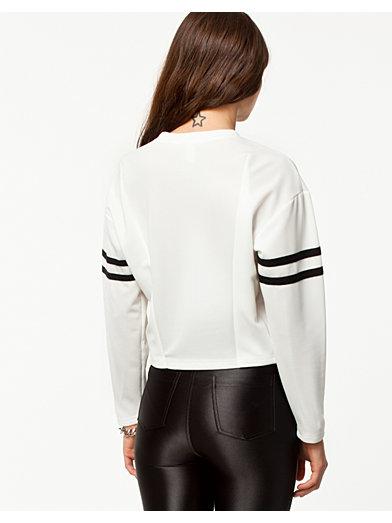 Sporty Sweater - Estradeur - Hvit - Gensere - Klær - Kvinne - Nelly.com