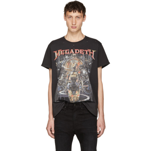R13 Grey 'Megadeth' T-Shirt