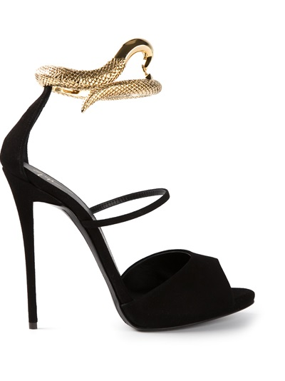 Giuseppe Zanotti Design Snake Detail Stiletto Sandals - Tessabit - Farfetch.com