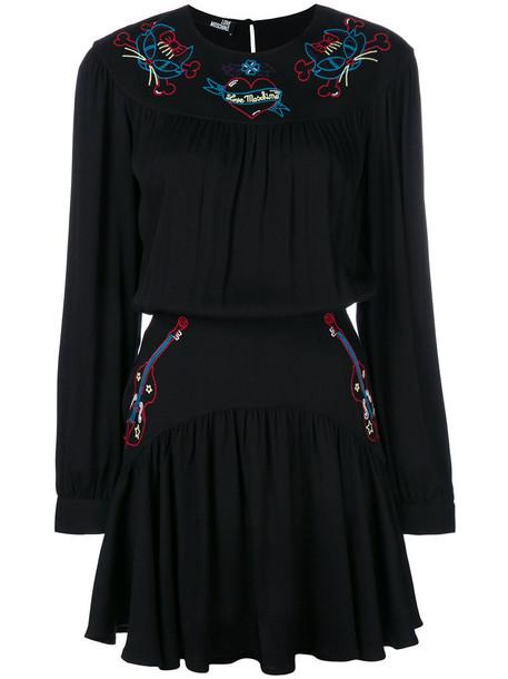 dress mini dress mini embroidered women black