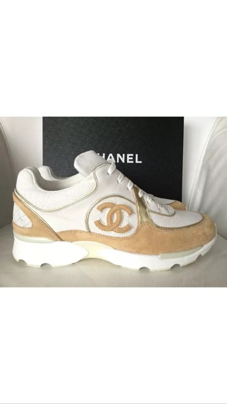 shoes chanel cc white sneakers