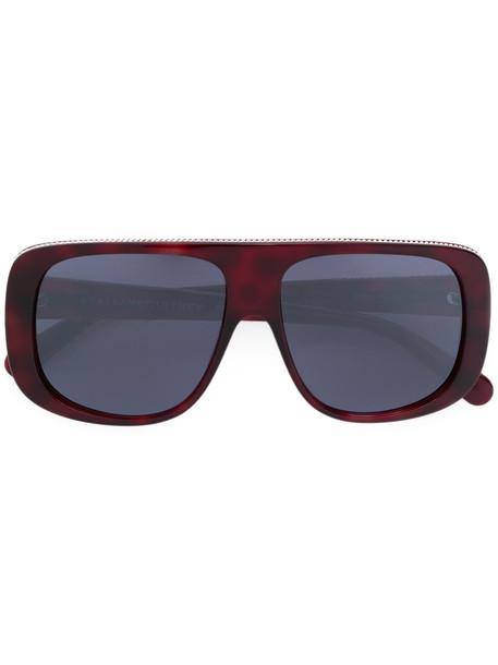Stella Mccartney Eyewear - square frame sunglasses - women - Acetate/metal - 57, Red, Acetate/metal