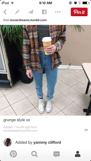 pants old 90s style grunge indie boho shirt stripes