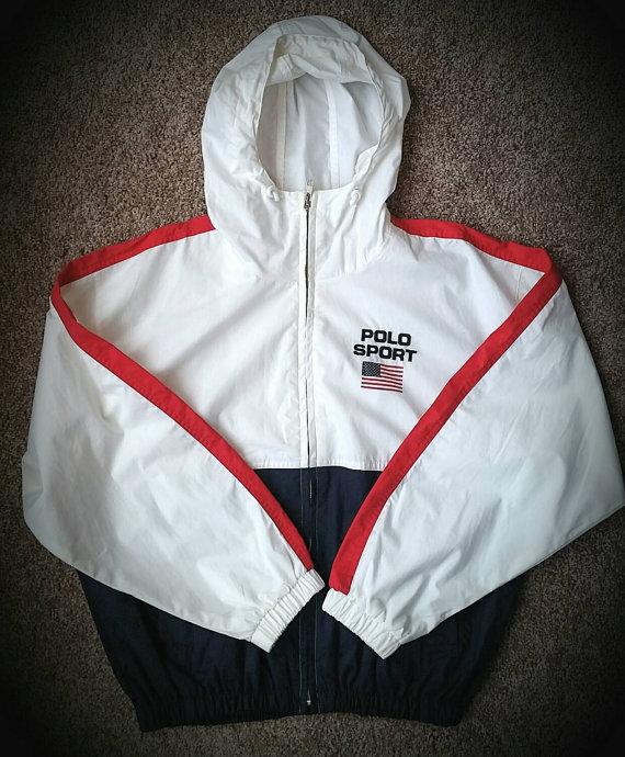 Vintage POLO SPORT Ralph Lauren windbreaker jacket size Medium ... 47df04d99ded