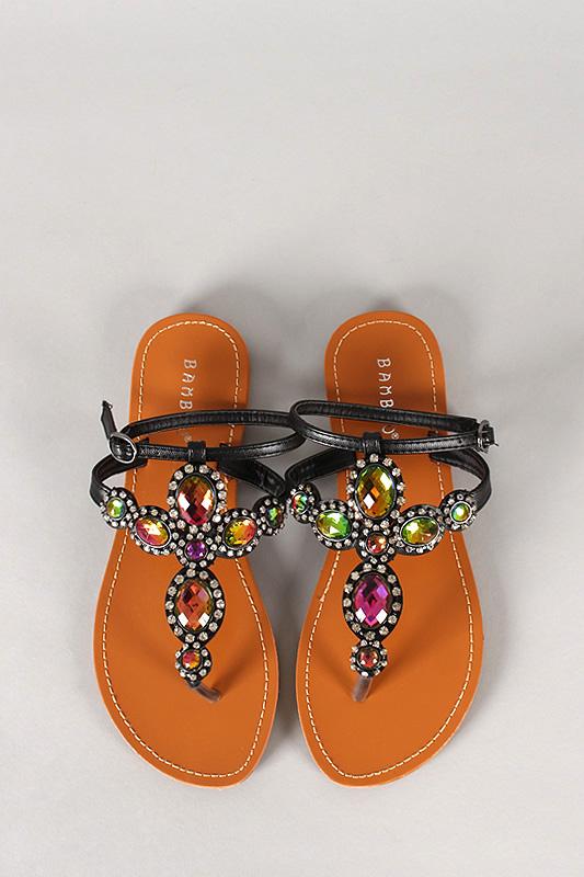 Strap slingback flat sandal
