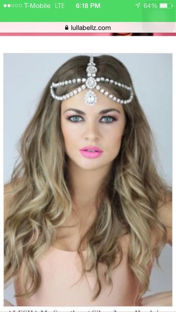 hair accessory gold head piece