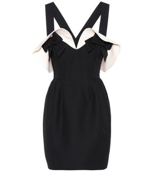 Valentino Wool and silk crêpe dress in black