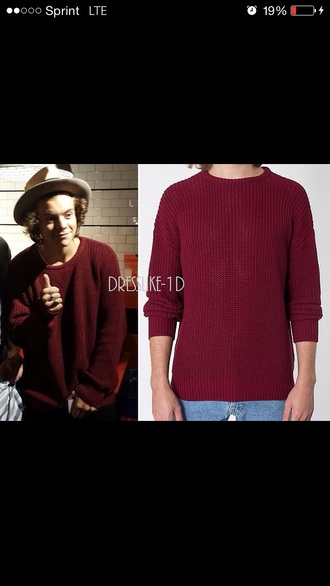 sweater harry styles one direction