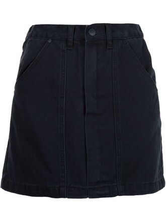 skirt denim skirt denim women cotton black