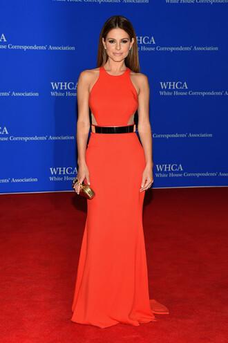 dress maxi dress maria menounos red dress prom dress gown