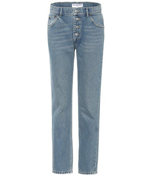 Balenciaga jeans high blue