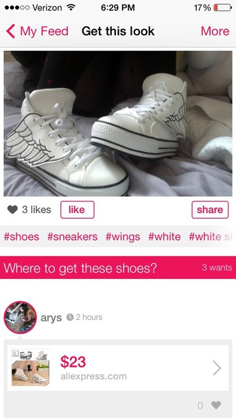 shoes wings