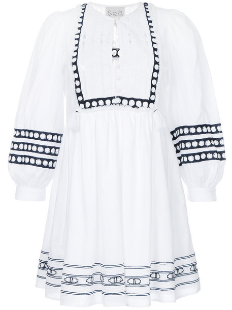 SEA dress day dress women lace white cotton