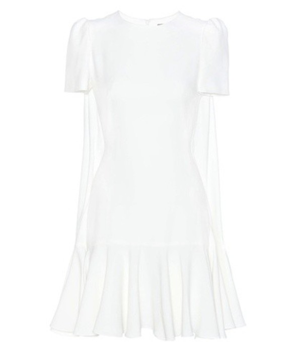 Alexander McQueen Crêpe Dress in white