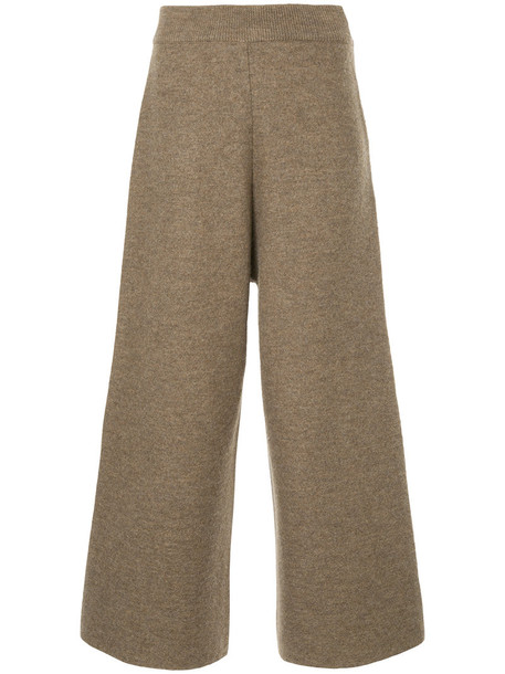 Cityshop cropped women wool brown pants