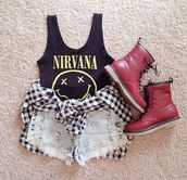 tank top,nirvana,nirvana t-shirt,jai brooks,music,top