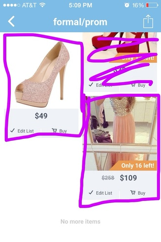 prom dress long rhinestone heeles