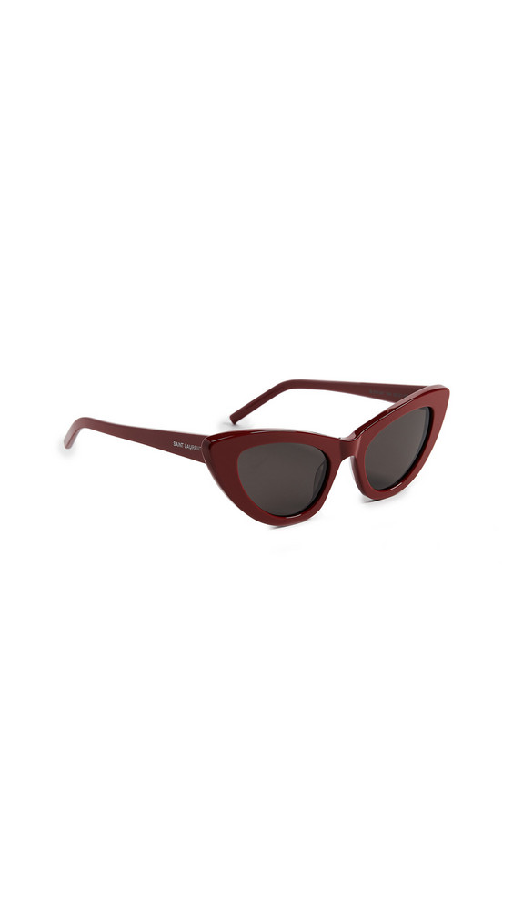 Saint Laurent SL 213 Lily Sunglasses in grey / red