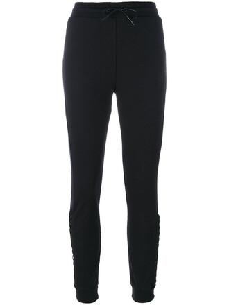 pants track pants women spandex cotton black