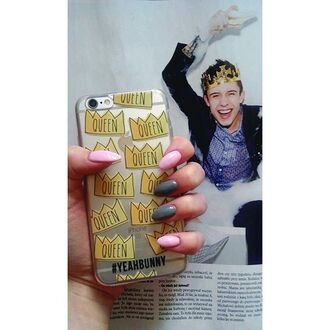 phone cover yeah bunny queen crown cute iphone iphone case clear