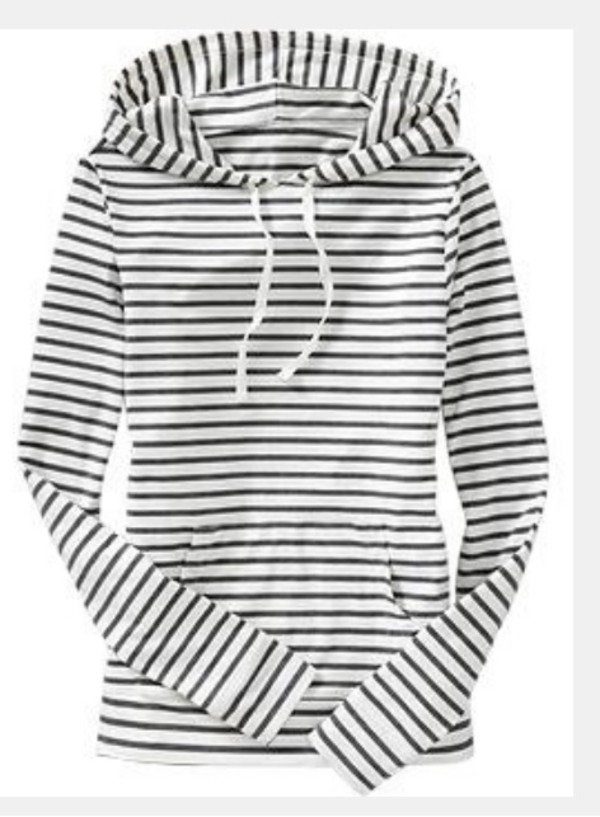 sweater comfy hoodie fashion warm casual top stripes