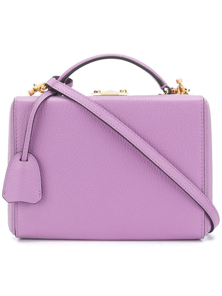 mini women bag leather purple pink