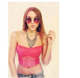 sunglasses amymarie gaertner red heart glasses