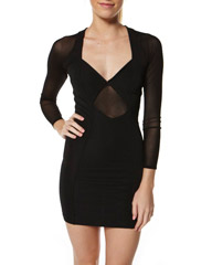 SURFSTITCH - WOMENS - DRESSES - AFTER DARK DRESSES - MINKPINK NIGHT AFTER NIGHT MINI DRESS - BLACK