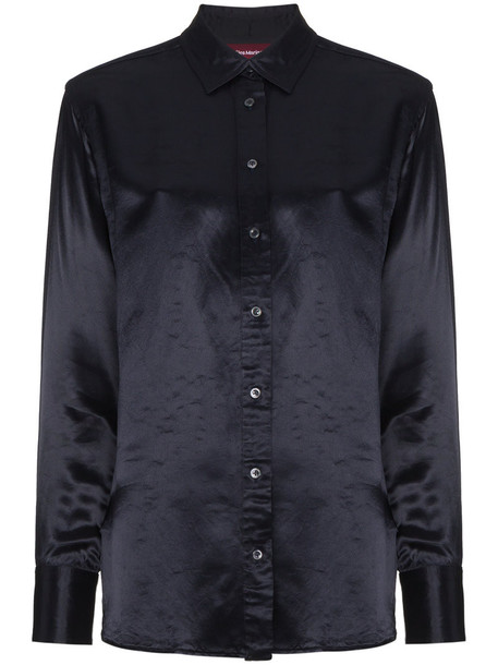 SIES MARJAN shirt women blue satin top